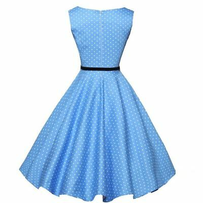 Women Sleeveless O Neck Dot Printed Cotton Blend Plus Size Swing Dress