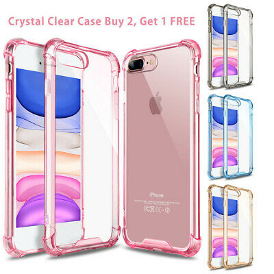 For iPhone 11 Pro XR XS Max 8 Plus 7 Clear Defender Case Bumper Shockproof Cover