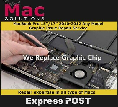 """Apple Macbook Pro 15"""", 17"""" 2010/2011/2012  A1286, A1297 Graphic Issue Repair"""