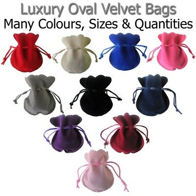 Oval Velvet Bags Gift Wrapping Wedding Favours Birthday Pouch Party Sweets Xmas