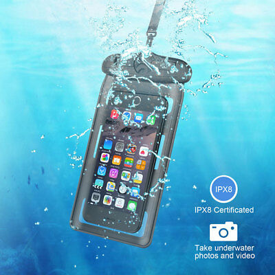 UK Underwater Waterproof Case Fluorescent Cover Bag Dry Pouch For Mobile Phone
