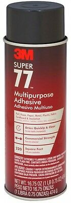 3M 16.75oz Super 77 MultiPurpose Spray Adhesive Laminate Wood Plastic Bonding
