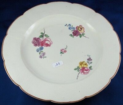 Rare 18thC Chantilly French Softpaste Porcelain Floral Plate Porzellan Teller #4