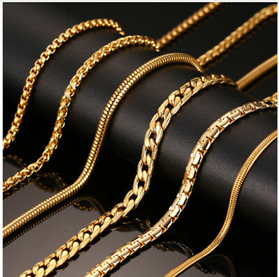 24inch Chain Necklace Women Men Snake Cable Round Link Stainless Steel Jewelry