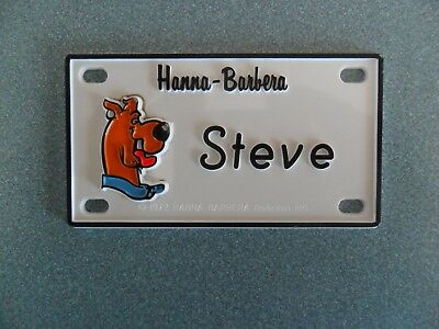 """Scooby-Doo Name Plates or Door Signs circa 1972  About 4"""" x 2""""."""