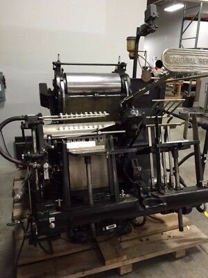 Heidelberg 13X18 Windmill Good Condition With Full Set Of Ink Rollers