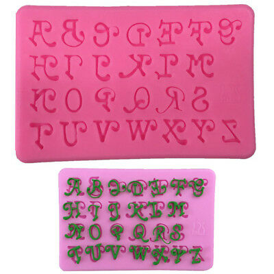 Alphabet Silicone Cake Mold Art Lowercase Letters Fondant Icing Baking DIY Mould