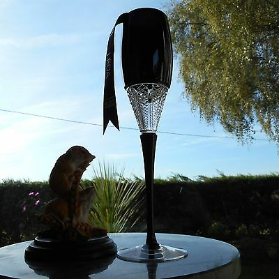 WATERFORD CRYSTAL JOHN Rocha Muse Io Black Prestige Champagne Flute ...