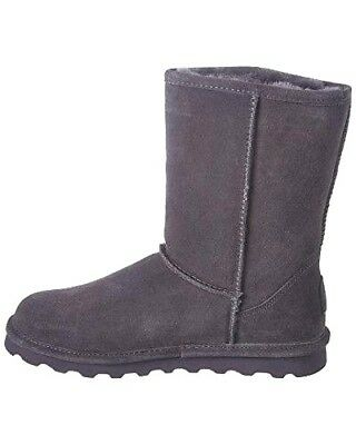 BEARPAW  HONEY  Neverwet Charcoal Gray Suede Ankle Fringe Boot   10