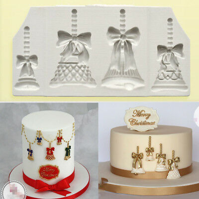 3D Bells Silicone Cake Decorating Moulds Candy Chocolate Baking Mold Sugarcraft