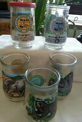 Welch's Endangered Species Jelly Glasses