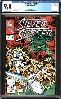 Silver Surfer #13 CGC 9.8 (NM/MT): Classic Copper Age! Unread! WP! $60 Value!