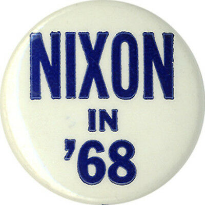 Vintage 1968 Richard NIXON IN '68 Campaign Button (1074)