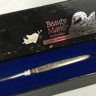 Vintage Towle Beauty Marks Sterling Silver Makeup Brush w/ Box