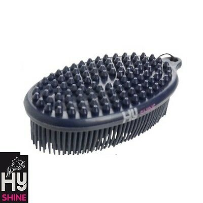 HyShine Pebble Brush – NAVY – two in one grooming tool – Mud, Stains – FREE P&P