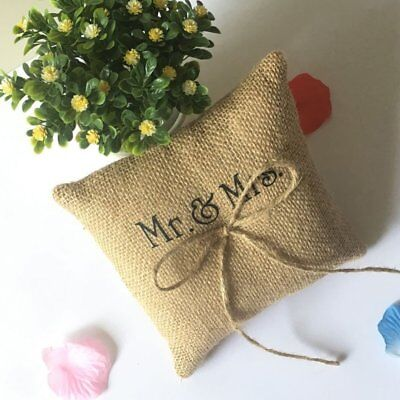 Bowknot Decorative Ring Pillow 15*15cm Finger Ring Cushion Party Supplies SG