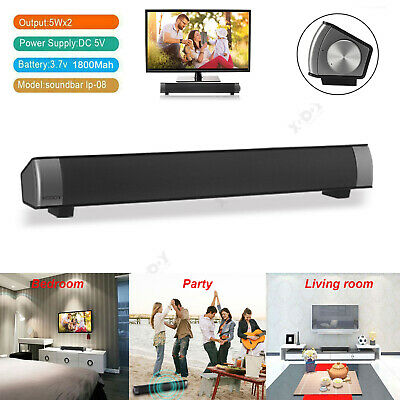 3D Surround TV Soundbar Sound Bar System Speaker Wireless Built-in Subwoofer