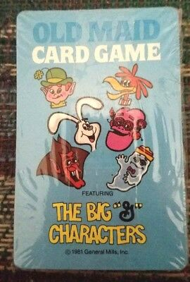1981 GENERAL MILLS Old Maid Card Game The Big G Characters  Sealed