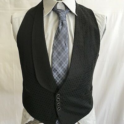 Brocade Diamond Pattern Mens 34 Vintage 30s Deco Tuxedo Tux Waistcoat Vest