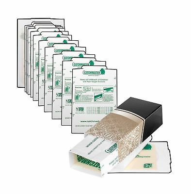 Catchmaster Glue Traps and 'Hide the Trap' Tan Covers 10 Pack. Catch Mice, In...