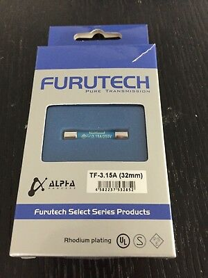 FURUTECH High-end grade Audio Fuse TF-3.15A (32mm) from Japan
