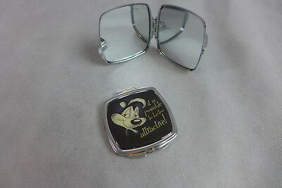 Pepe Le Pew Woman's Compact Mirror Looney Tunes Metal Lot of 2 New