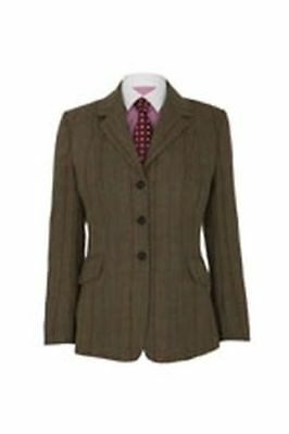 "Caldene Ss18 Tex Competitionjacket Southwold Tweed Brown - Maids 32"" - Cal3619"
