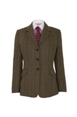 "Caldene Ss18 Tex Competitionjacket Southwold Tweed Brown - Ladies 38"" - Cal3623"