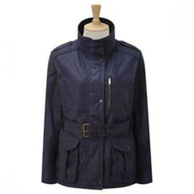 Caldene Country Jacket Figsbury Belted Wax Navy - Size 8 - Cal4240