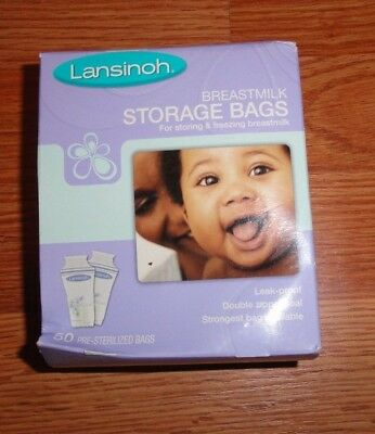 Lansinoh Breastmilk Storage Bags, 50 Count, BPA Free Strongest Bag Available