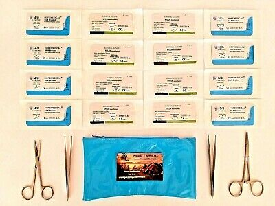 Suture Kit - Surgical Sutures - Sterile Sutures - Suture Pack Medical Instrument