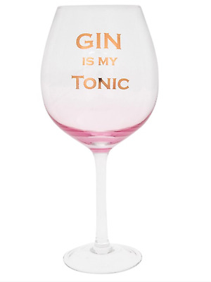 Gin I should my tonic pink glass drinking gift comes boxed  present novelty