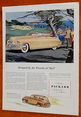 Lovely 1948 Packard Convertible & Wagon Ad - American Vintage 40S Classic Car