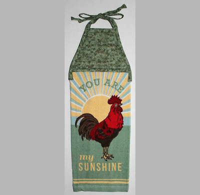 hanging CHICKEN towel YOU ARE MY SUNSHINE tie straps padded machine quilted top