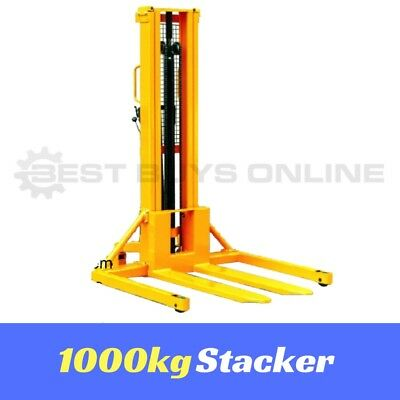 New Manual Stacker Straddle Leg Industrial Heavy Duty Lifter 1 Ton Quick Lift