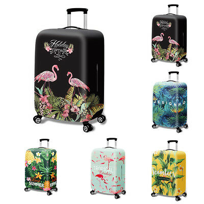 Elastic Flamingo Pineapple Travel Luggage Suitcase Dustproof Protective Cover Pr