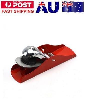 Mini Red Flat Plane Bottom Edged DIY Woodworking Wood Hand Planer Handle Tool