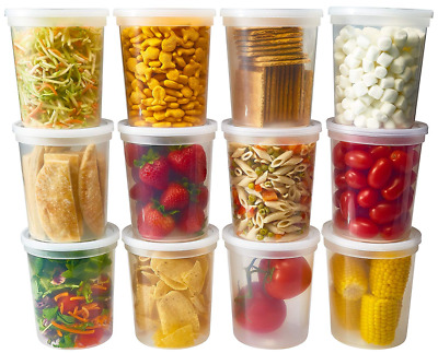 Deli Food Storage Containers With Lids 32 Ounce, Quart Pack Of 24 Plastic