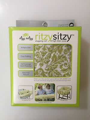 Ritzy Sitzy Shopping Cart and High Chair Cover Avocado Damask