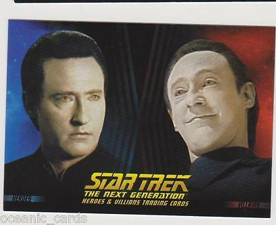 Star Trek Next Generation Trading Cards Heroes And Villians Promo Card P4 Sdcc