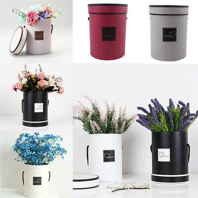 Handheld Type Bouquet Flower Boxes Round Living Vases Florist Flower Plant Boxes
