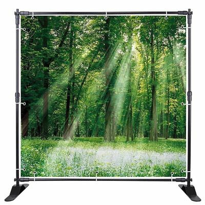 Trade Show Backdrop Step Repeat 8x8' Banner Stand Adjustable Roll Up Show ZQ