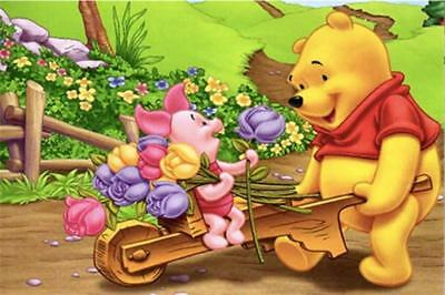 AU Pooh Bear Full Drill 5D Diamond Embroidery Painting Craft Home Decor Art ZG