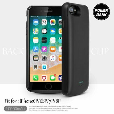 New 10000mAh External Battery Charger Charging Case Cover For iPhone 6S 7 8 Plus