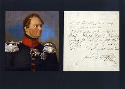 Frederick William IV autograph, letter signed & mounted