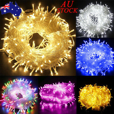 AU 100-1000LEDs Fairy String Light Wire Lamp Party Wedding Christmas Home Decor