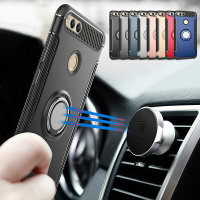 For Huawei Mate SE P8 P9 Lite 2017 Hybrid Magnetic Ring Holder Stand Case Cover