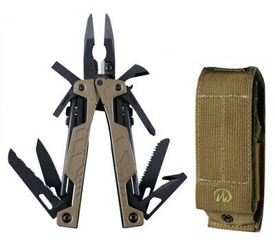 LEATHERMAN OHT COYOTE TAN ONE HANDED MULTITOOL KNIFE + Deluxe Tinker