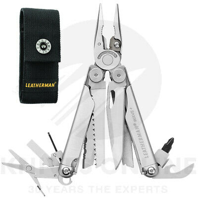 LEATHERMAN WAVE PLUS + STAINLESS STEEL MULTITOOL +SHEATH + Classic Red