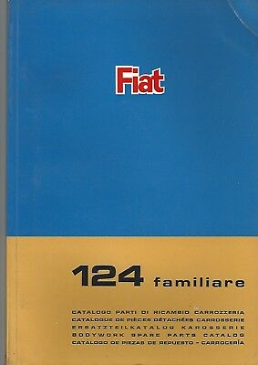 Fiat 124 Familiare bodywork spare parts catalog 1967